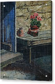 The Potting Bench Acrylic Print by William Goldsmith