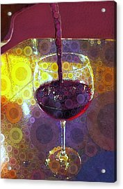 The Pour Acrylic Print by Cindy Edwards