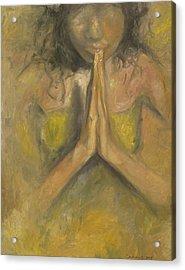 The Power Of Prayer - Blind Faith Acrylic Print