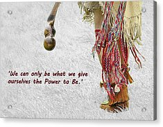 The Power To Be Acrylic Print by Joanne Brown