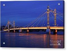 The Prettiest Bridge In Town. Acrylic Print by Pete Reynolds