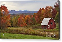 The Pretty Little Barn Eighteen Miles From Jay Peak Acrylic Print