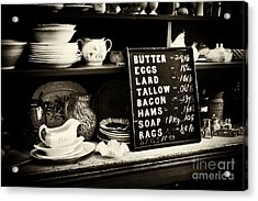The Price List Acrylic Print by Paul W Faust -  Impressions of Light