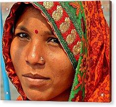 The Pride Of Indian Womenhood Acrylic Print