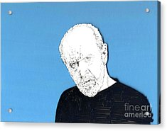 The Priest On Blue Acrylic Print by Jason Tricktop Matthews