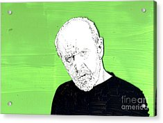the Priest on Green Acrylic Print