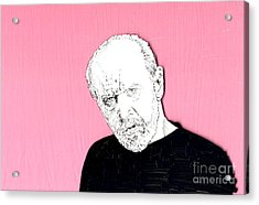 The Priest On Pink Acrylic Print by Jason Tricktop Matthews