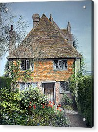 Acrylic Print featuring the painting The Priests House Sissinghurst Castle by Rosemary Colyer