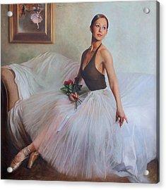 The Prima Ballerina Acrylic Print by Anna Rose Bain
