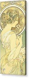 The Primrose Acrylic Print by Alphonse Marie Mucha