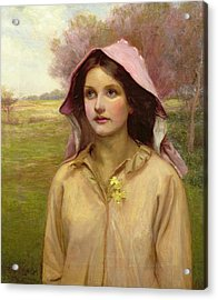 The Primrose Girl Acrylic Print by William Ward Laing