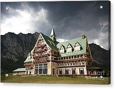 The Prince Of Wales Hotel Waterton Lakes Np  Acrylic Print by Teresa Zieba