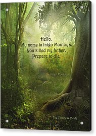 The Princess Bride - Hello Acrylic Print