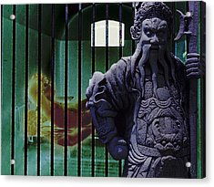 The Prisoner And His Guardian Acrylic Print by Nafets Nuarb