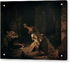 The Prisoner Of Chillon Acrylic Print by Ferdinand Victor Eugene Delacroix