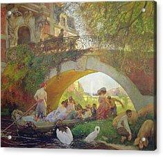 The Prodigal Son Oil On Canvas Acrylic Print by Gaston de La Touche