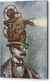 The Projectionist Acrylic Print by Eric Fan