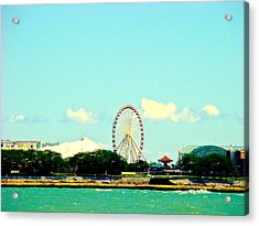 The Promise Of A Ferris Wheel Acrylic Print