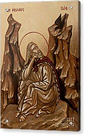 The Prophet Elijah Acrylic Print by Olimpia - Hinamatsuri Barbu