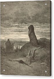 The Prophet Slain By A Lion Acrylic Print by Antique Engravings