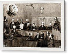 The Prosecution Of The Freiheit Examination Of Herr Johann Acrylic Print