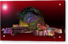 The Psychedelic Hat Island C 11 Acrylic Print