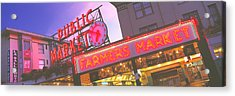 The Public Market Seattle Wa Usa Acrylic Print by Panoramic Images