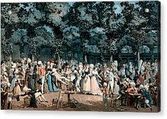 The Public Promenade Acrylic Print by Philibert-Louis Debucourt