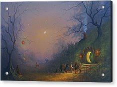 A Hobbits Halloween. The Pumpkin Seller. Acrylic Print by Joe Gilronan