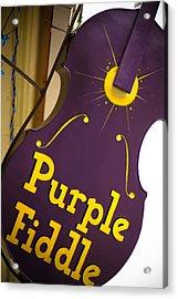 The Purple Fiddle Acrylic Print