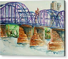The Purple People Bridge Acrylic Print
