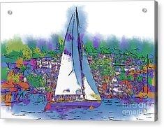 The Purple Sailboat Acrylic Print