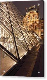 The Pyramide Du Louvre, Paris, France Acrylic Print