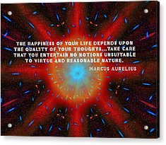 The Quality Of Your Thoughts Acrylic Print