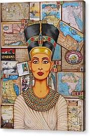 The Queen Of Amarna Acrylic Print by Joseph Sonday