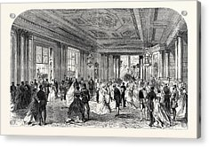 The Queens Drawingroom Grand Entrance Hall Buckingham Acrylic Print by English School