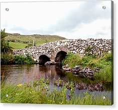 The Quiet Man Bridge Acrylic Print by Charlie and Norma Brock