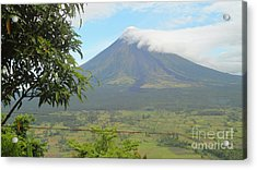The Quite Mayon Acrylic Print by Manuel Cadag