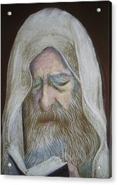 The Rabbi Acrylic Print by Maxwell Mandell