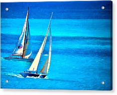 Acrylic Print featuring the photograph The Race by Pamela Blizzard