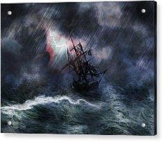 The Rage Of Poseidon II Acrylic Print
