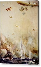 The Raid On Cuxhaven Acrylic Print by Cyrus Cuneo