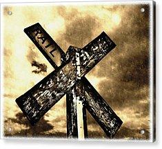 The Railroad Crossing Acrylic Print by Glenn McCarthy Art and Photography