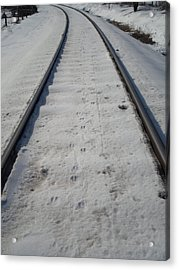 The Railroad Tracks Acrylic Print by Jenna Mengersen