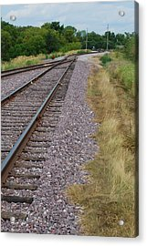 Acrylic Print featuring the photograph The Rails by Ramona Whiteaker