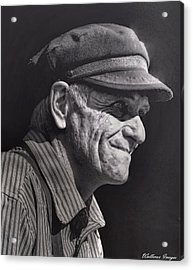 Acrylic Print featuring the photograph The Railwayman by Wallaroo Images