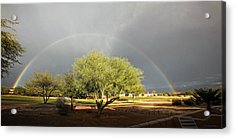 The Rain And The Rainbow Acrylic Print