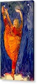 The Rain Dance Acrylic Print by FeatherStone Studio Julie A Miller