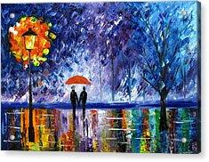 The Rain Acrylic Print by Mariana Stauffer