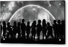 The Rainbow Of Childhood Acrylic Print by Yvette Depaepe